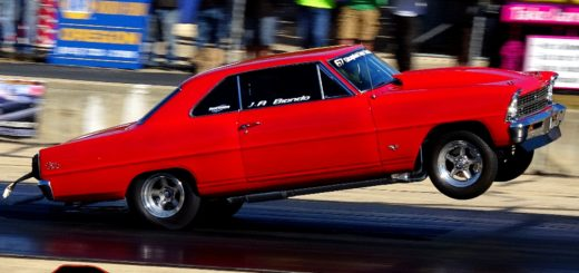 Jay Biondo's 1967 Chevy Nova at Byron Wheelstand Contest 2017