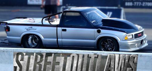 Trucks Drag Racing at Street Outlaws Outlaw Armageddon Race